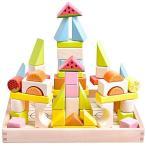 木製 積み木 天然木 ブロック 人気 おもちゃ 知育玩具 カラフル つみき 幾何学認知 バランス ゲーム 赤ちゃんおもちゃ 収納ケース付き 木のおもち