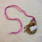 ネックレス フクロウモチーフ 巾着袋 ラッキーポーチ フクロウ