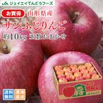 訳あり 山形県産 サンふじ りんご 約10kg (28〜56玉入り) リンゴ 林檎 送料無料 (一部地域は別途送料)