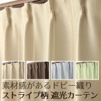 カーテン 遮光カーテン 2枚組 素材感があるドビー織りストライプ柄5264 既製品 幅100cm×丈135cm・丈178cm・丈200cm 幅100センチ 在庫品