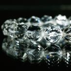 輝きが違う ダイヤカット 5A級天然水晶 φ10mm ブレスレット パワーストーン 天然石 腕輪 ビーズ