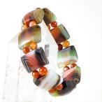 【ポイント15倍】 孔雀メノウ デザインブレスレット 鳳凰 【パワーストーン】 of3-30