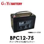 【送料無料】BPC12-75 G&Yuグローバルユアサ EB電池(ゴルフカート・産業機械) 【代引不可/配達時間指定不可/沖縄離島配送不可/同梱不可】