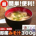 【メール便出荷】即席みそ汁 5種 約300g(約25食分) 国産 詰め合わせ 無選別 味噌汁 インスタント みそしる レトルト スープ
