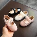 女の子 フォーマルシューズ 子供フォーマルシューズ 子ども靴 ワンストラップ キッズシューズ フラワー 入学式 結婚式 発表会 柔らかい 13.5cm-18.2cm
