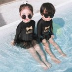 子供水着 女の子  男の子 ワンピース型水着 長袖 体型カバー 韓国風  水着 可愛い 女の子 スイムウェア 温泉 スイムウエア ビーチ 子ども