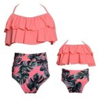 水着 レディース 女の子水着 親子水着 子供 可愛い2点セット パンツ水着 キッズ  砂浜 夏休み