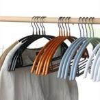 10本組 ハンガー すべらない 衣類ハンガー 多機能 型崩れ防止 衣類収納 滑らない 室内 家庭用 変形しない 物干しハンガー 乾湿両用 洗濯