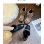 ムートンブーツ ファーシューズ 靴 ムートン レディース ブーツ ムートン ショートブーツ 黒 フラット レディース ボア 防寒 ぺたんこ 秋 冬 裏ボア 痛くない