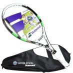 バボラ ピュアドライブ ロディック ジュニア26 ウィンブルドンモデル BABOLAT 2015年 ガット張り上げ済み テニスラケット