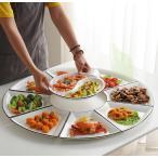 プレート お皿 来客用  プレゼント ギフト お祝い 八卦型 丸形 中華 イベント  ホームパーティー 上品 上質 モダン シック キッチン