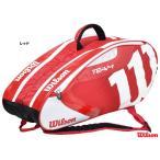 ウイルソン(Wilson) テニスバッグ TEAM J 6パック(レッド) WRZ647606