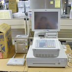 送料無料  中古  業務用  オーダーエントリーシステム ST-701-FM-1F011-R 幅265×奥行470×高さ436 単相100V