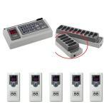 リプライコール【呼び出しチャイム】受信機5台セット 受信機 ×5/送信機 ×1/充電器(5台用)×1