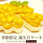 誕生日ケーキ バースデーケーキ チーズケーキ おしゃれ 女性 男性 子共 / マンゴー レアチーズケーキ 5号 4-6人用