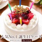 誕生日ケーキ バースデーケーキ  宅配 いちご メッセージ 面白い サプライズ 子供 フルーツ 本州 送料無料 ホワイトベリー 5号
