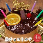 誕生日ケーキ バースデーケーキ おしゃれ 女性 子共 北海道産 生クリーム / 生チョコトルテ 4号 2人用 3-4人用