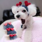 送料無料 ハート柄 ニット帽子 ドッグウェア 犬の服 ワンちゃん服 犬服 ペット服 ドッグ服 小型犬 ペットウェア
