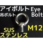 ステンレス SUS アイボルト M12 2.16kN(220kgf)/SWL(使用荷重) ステンアイボルト 吊ボルト「取寄せ品」「サイズ交換/キャンセル不可商品」