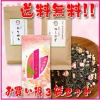 熊本茶&知覧茶鹿児島茶飲み比べセット さくら玄米茶 ゆしかざ 茎茶かりがね 3袋セット お得な5%OFF 送料無料 日本茶 緑茶 お茶