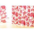 北欧柄 形状記憶 遮光 遮熱 保温 ウォッシャブル 既製品カーテン (100×200:2枚セット)OVERTIME ピンク 送料無料