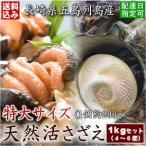【国産】天然活さざえ(サザエ)特大サイズお刺身用1kgセット(4〜6個入)