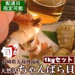 Shellfish - 【国産】天然 活ちゃんばら貝(チャンバラ貝・マガキ貝)1kgセット(約30個入り)[西海国立公園 長崎県五島列島産]