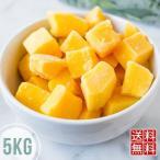 料無料 冷凍マンゴー 5kg アップルマンゴー マンゴー カットマンゴー 冷凍フルー (北海道・沖縄県除く)