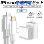 USB-C電源アダプター PD急速充電ケーブル iPhone ipad ipod用急速充電ケーブル USB-Cタイプ充電セット iphone12用 充電器充電ケーブル 2点セット