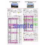ショッピング 運転士用時刻表(レプリカ) 485系 特急電車 5081M「ひゅうが11号」 485系 特急電車 6008M「きりしま8号」