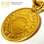 コスタリカ 18金 18K コーティング コイン ネックレス チェーン ゴールド ペンダント 世界 外国 海外 世界のコイン 40cm 45cm 50cm 60cm