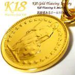 スイス 18金 18K コーティング コイン ネックレス チェーン ゴールド ペンダント 世界 外国 海外 世界のコイン 40cm 45cm 50cm 60cm