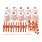 【送料無料】(ロキリフ) プラズマ カッター ロング ノズル & チップ 30個 セット (CUT-40 CUT-40D CUT-50 CT52)(切断機 消耗品)