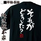 おもしろグッズ おもしろtシャツ メンズ 文字 名言 憩楽体Tシャツ(それがどうした?)名言 漢字 文字 メッセージtシャツ  おもしろtシャツ 文字