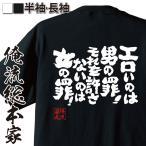 おもしろtシャツ 面白tシャツ メンズ 文字 名言 俺流総本家(エロいのは男の罪!それを許さないのは女の罪!)無地 雑貨 半袖 漢字画像