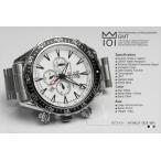 GMT機能搭載! メンズクロノグラフ 人気HYAKUICHI 腕時計