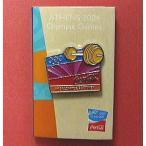コカ・コーラ「2004アテネオリンピック」ピンバッジ・コレクション:重量挙げ