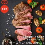 アメリカ産 熟成 サーロイン ステーキ 450g 3枚セット 熟成牛 牛肉 BBQ ステーキ肉 赤身 お中元 お歳暮