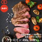 アメリカ産 熟成 サーロイン ステーキ 450g 20枚セット 熟成牛 牛肉 BBQ ステーキ肉 赤身 お中元 お歳暮