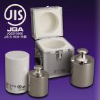 JISマーク付基準分銅型円筒分銅 M2級(3級)分銅(M2CBB-5KJ:5kg)黄銅クロムメッキ プラスチック収納ケース入り