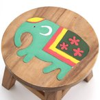 木製スツール ゾウスツール ぞう子ども ウッド ベビーチェア ミニスツール 花台 玄関 木製椅子 花台 フラワースタンド