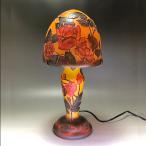 ガレ テーブルランプ ガレ調ランプ ローズ 薔薇 花柄 硝子工芸 間接照明 おしゃれ ギフト