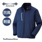 防風中綿ジャケット 防寒着 作業服 作業着 防寒服 385-1 防風 中綿 ストレッチジャケット 軽量 M L LL 3L 4L 5L