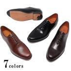 本革 ホールカット プレーントゥ レザーソール ビジネスシューズ ブラック  ハンドソーンウェルテッド グッドイヤーウェルト 革底 革靴