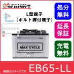 EB65 HIC80 -L L形端子 ( ボルト締付端子 )  日立 ( 新神戸 ) 産業バッテリー