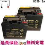 【2個セット】 HC38-12 日立 サイクル バッテリー セニアカー 車椅子 HCシリーズ 【互換】 SC38-12 SER38-12