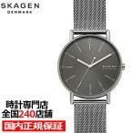 スカーゲン シグネチャー SKW6577 メンズ 腕時計 クオーツ メッシュ グレー