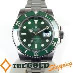 ロレックス / ROLEX : サブマリーナ 緑サブ ムーブ調整・新品仕上済 ルーレット G番 116610LV 時計 腕時計 メンズ[男性用] 中古