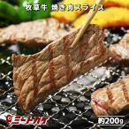 ポイント消化 牛肉 厚切り焼き肉 スライス 200g BBQ用 グラスフェッドビーフ 牧草肉