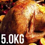 ショッピング鳥 七面鳥 ターキー丸 約5kg (冷凍・生)/ 10-12ポンド フランス産(スモークターキー/七面鳥/丸鳥/ターキーレッグ)(直輸入品)